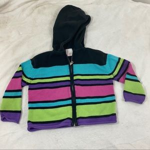 🔥3/$15🔥Hanna Andersson Pink Striped Knit Jacket
